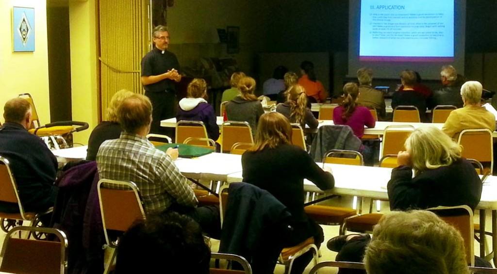 Fr. Peter teaching Adult Catechetical class
