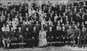 Bishop Nykyta Budka among Ukrainian Catholics in Edmonton 1917