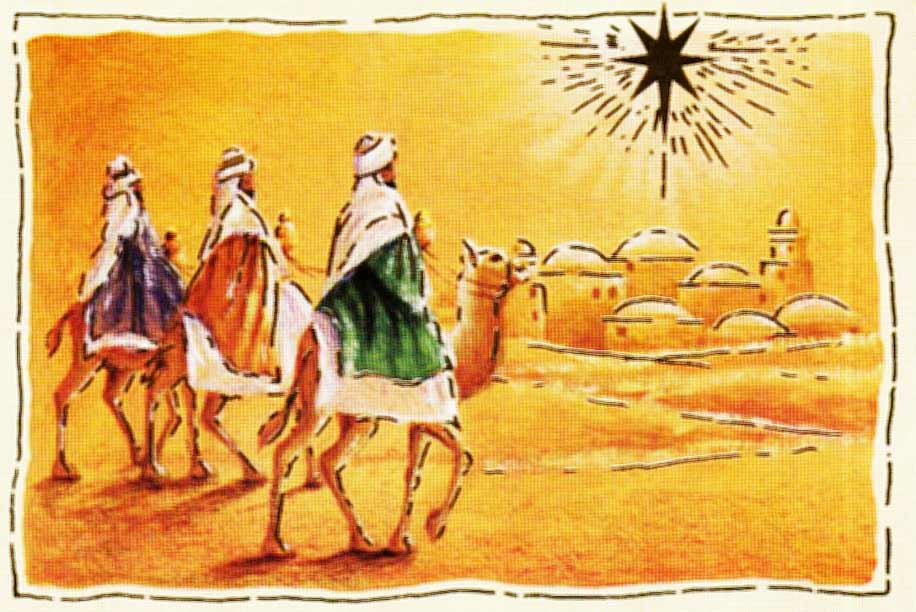 Picture of the Three Wiseman traveling to Jerusalem