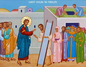 The forgiveness and healing of a paralytic man