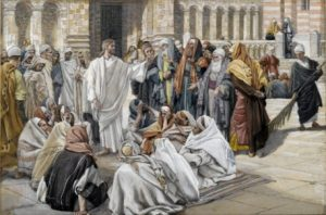 Christ teaching in the synagogue