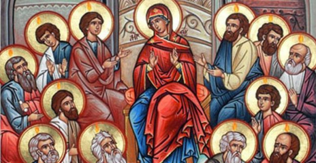 Pentecost Sunday the Theotokos with the Apostles