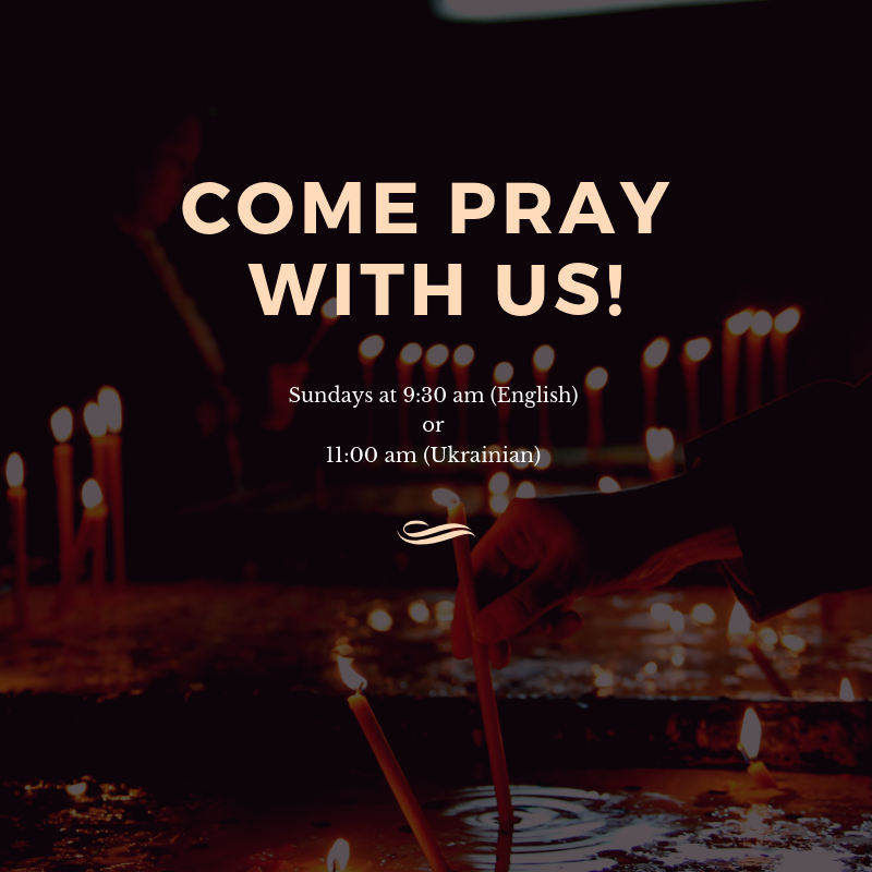 Come Pray at St. Josaphat's