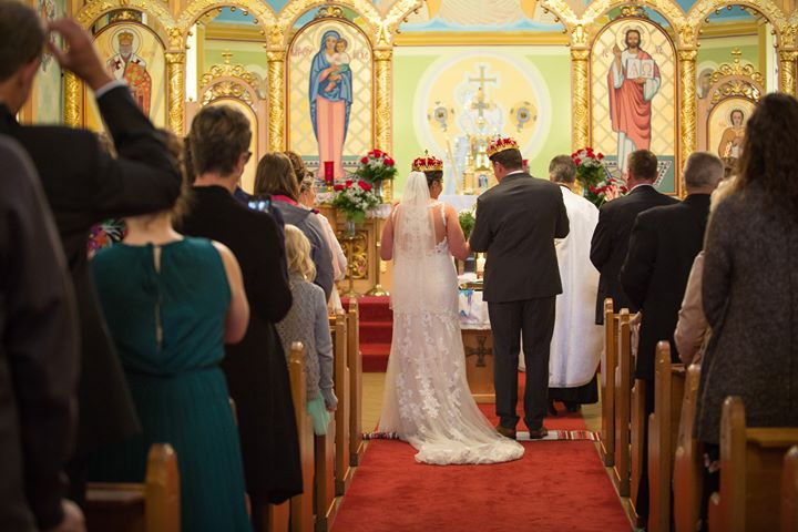 Amber Malarski wedding at St. Josaphat Cathedral